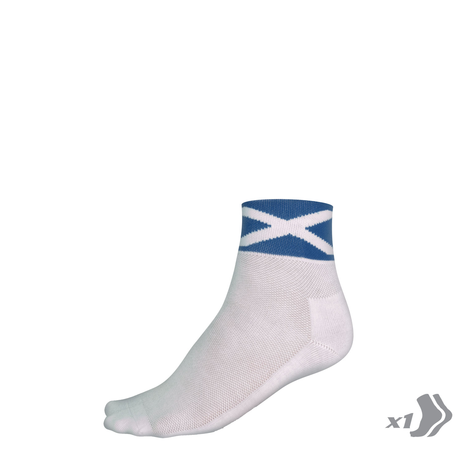 COOLMAX® Saltire Race Socks (Single) Black/None