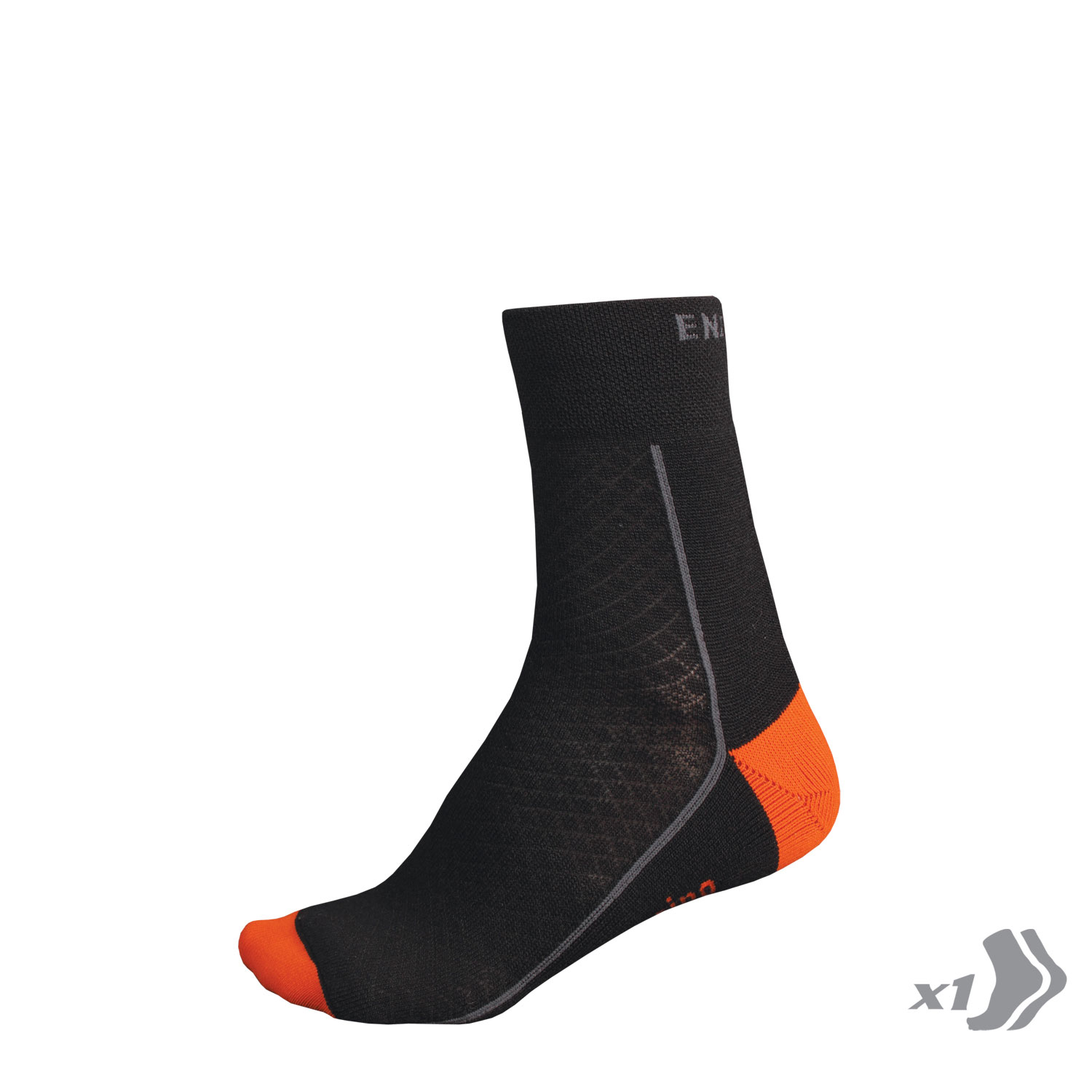 BaaBaa Merino Winter Sock (Single) Black/None