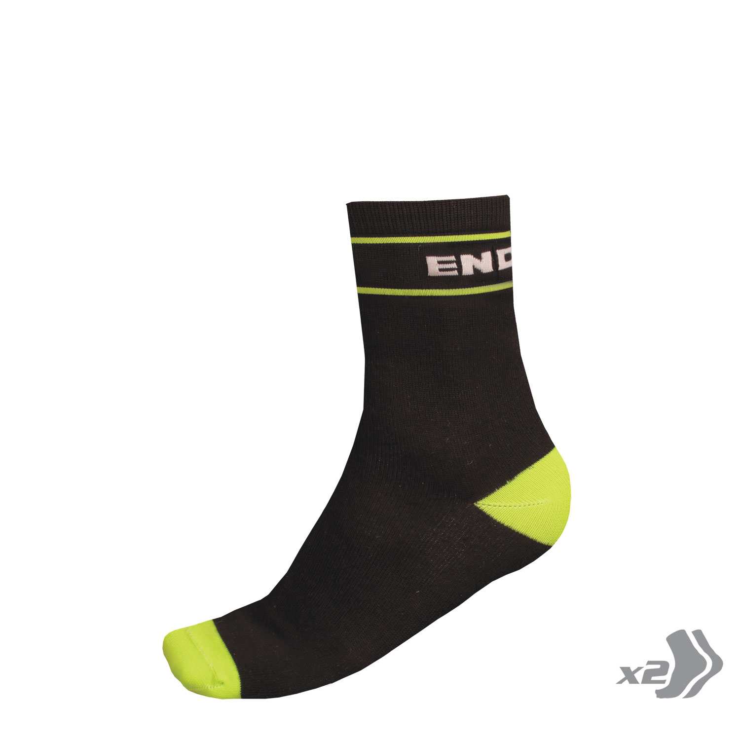 Retro Sock (Twin Pack) Black