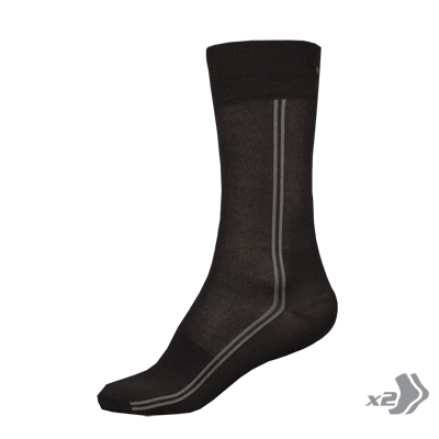 COOLMAX® Long Sock (Twin Pack) Black
