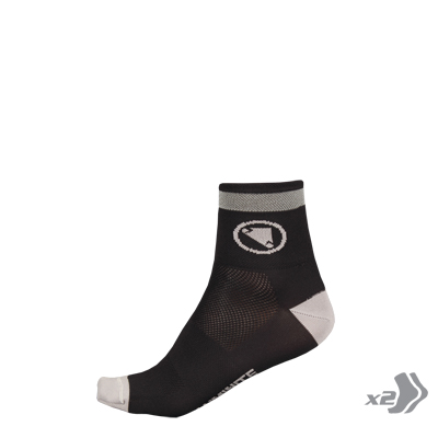 Wms Luminite Sock (Twin Pack) Black