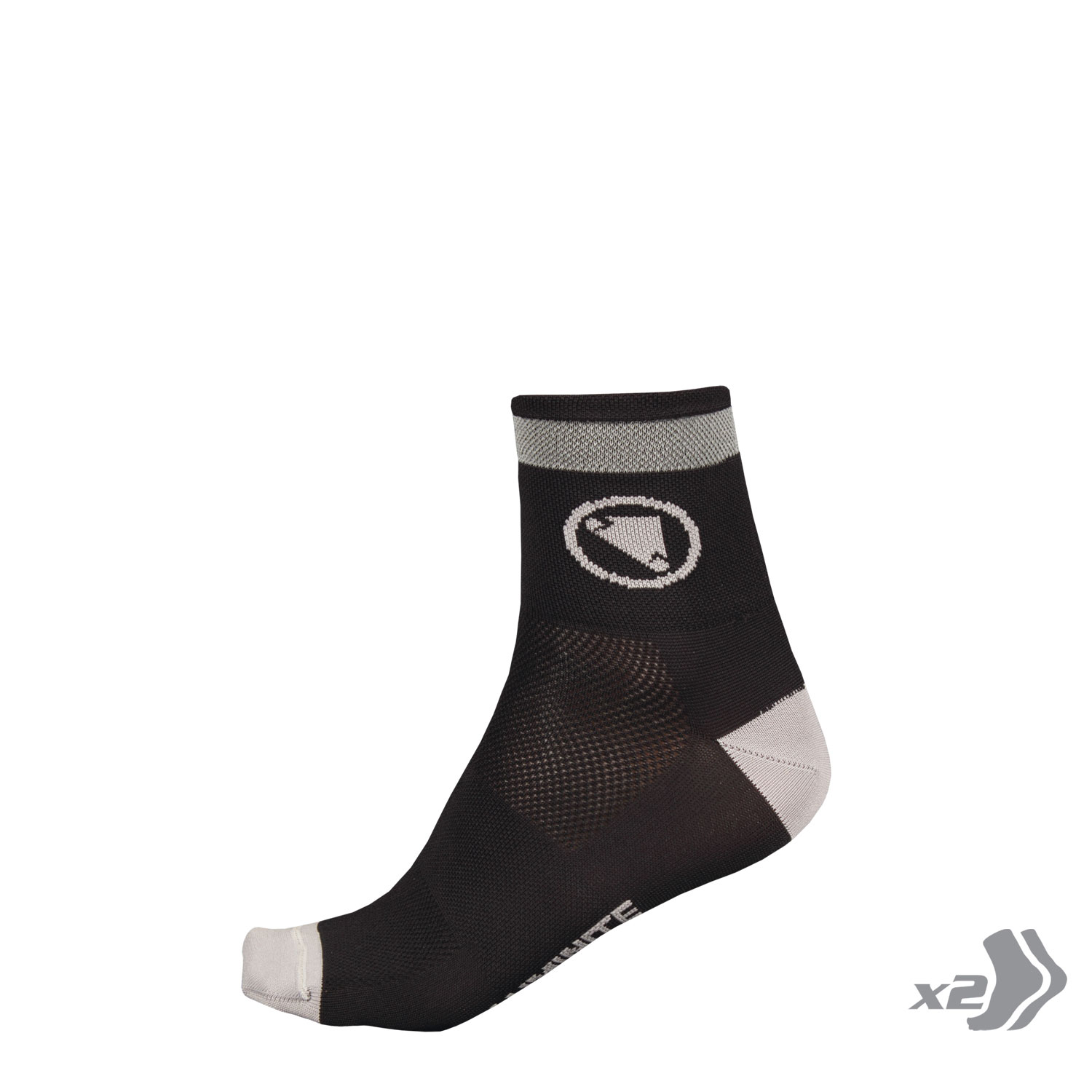 Luminite Sock (Twin Pack) Black