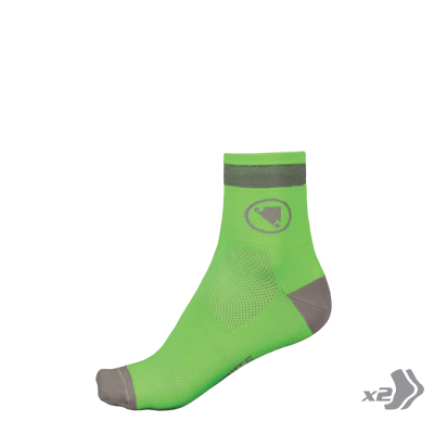 Luminite Sock (Twin Pack) Hi-Viz Green