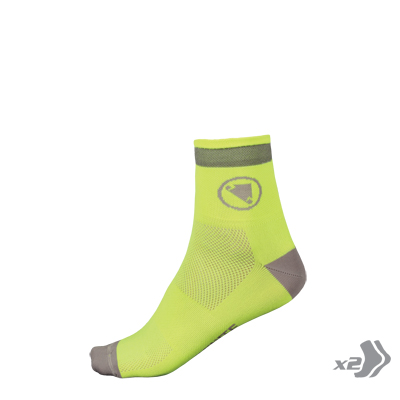 Luminite Sock (Twin Pack) Hi-Viz Yellow
