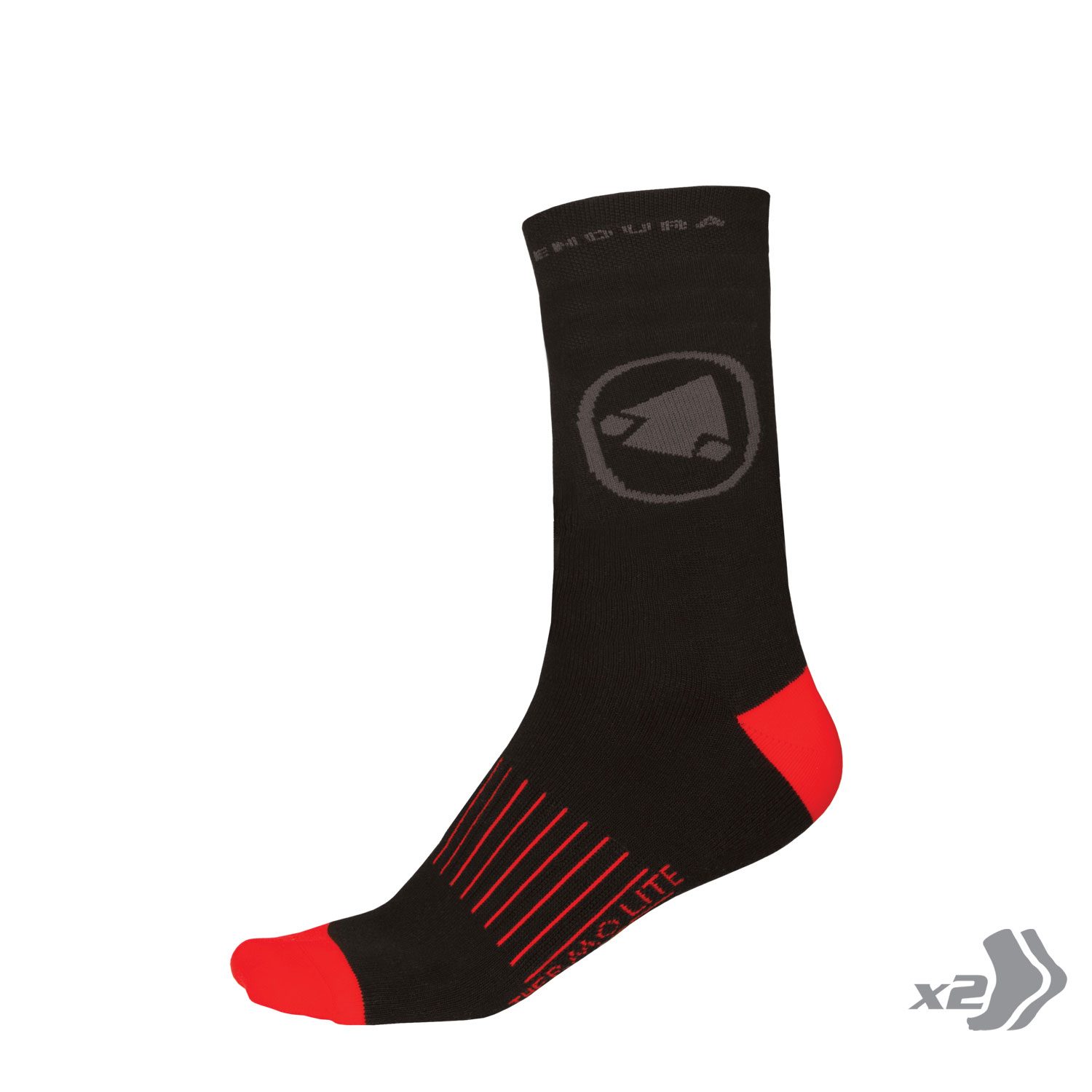 Endura THERMOLITE II (S-M) Thermal Insulation Cycling Socks - Twin pack