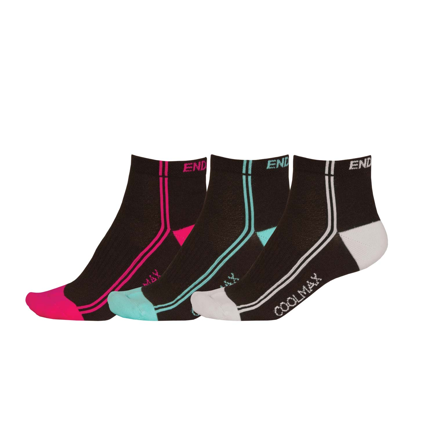 Wms COOLMAX® Stripe Sock (3-Pack) Black