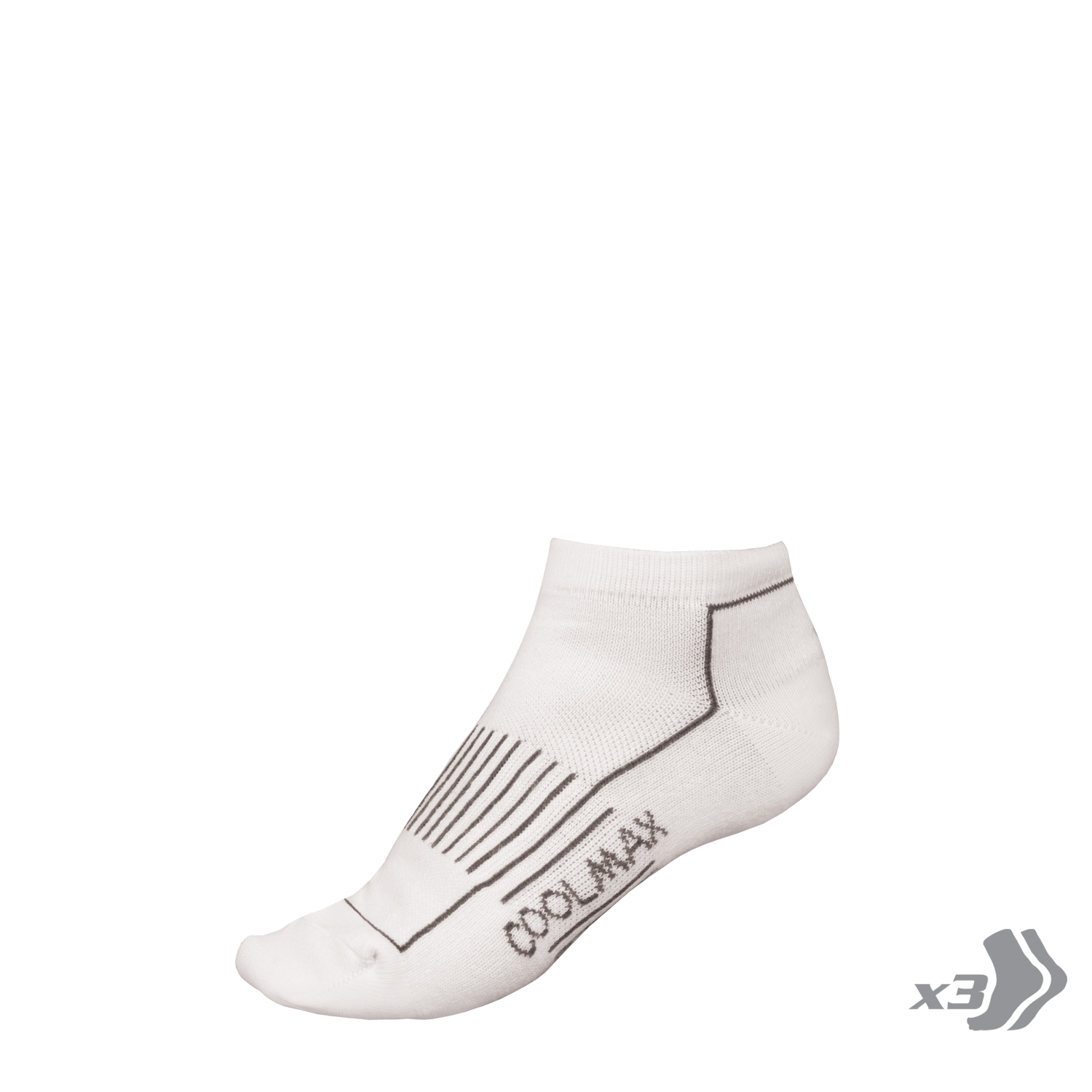 Wms COOLMAX®Trainer Sock (3-Pack) White