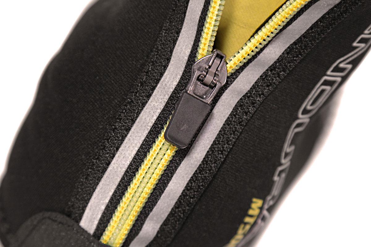 Reflective logo and rear zip panels