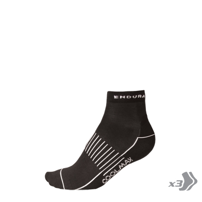 COOLMAX® Race II Sock (Triple Pack) Black