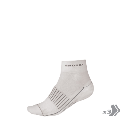 Wms COOLMAX® Race Sock (Triple Pack) White
