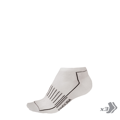 COOLMAX® Race Trainer Sock (Triple Pack) White