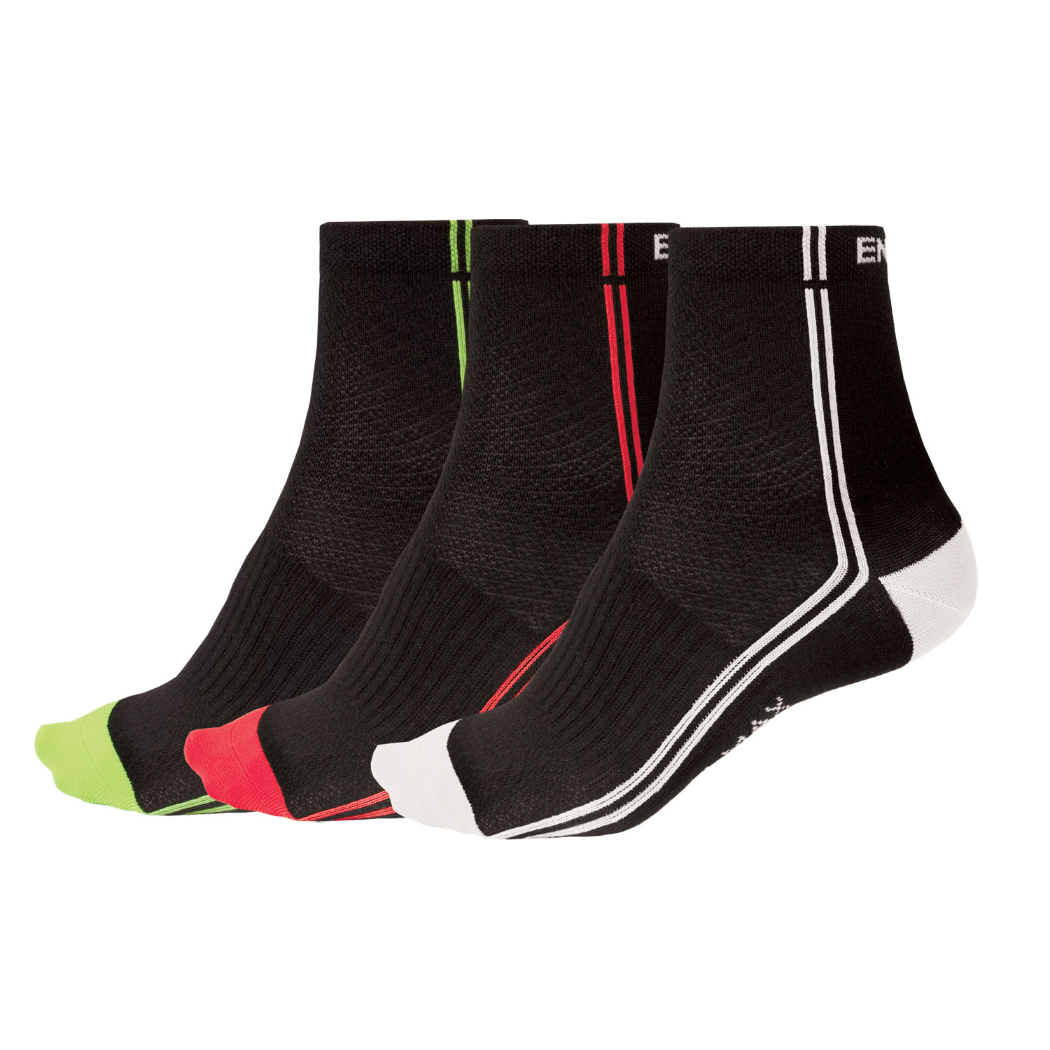 COOLMAX® Stripe II  Sock (Triple Pack) Black