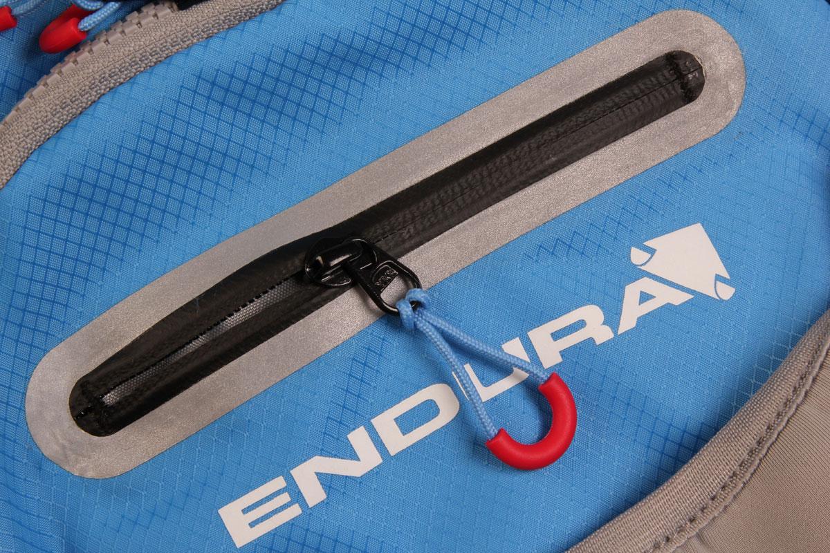 Easy access waterproof zipped pocket