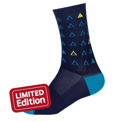 Triangulate Sock Navy