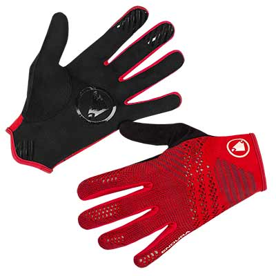 SingleTrack LiteKnit Glove Rust Red