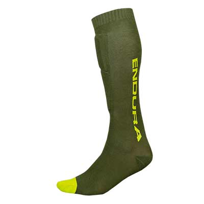 SingleTrack Shin Guard Sock Forest Green