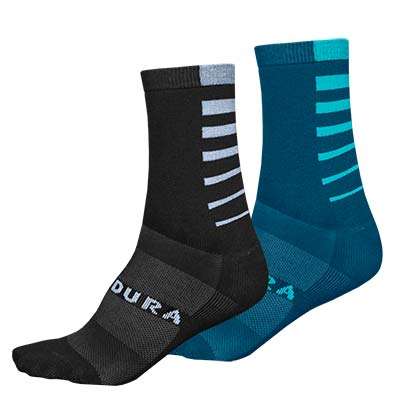 Coolmax® Stripe Socks (Twin Pack)