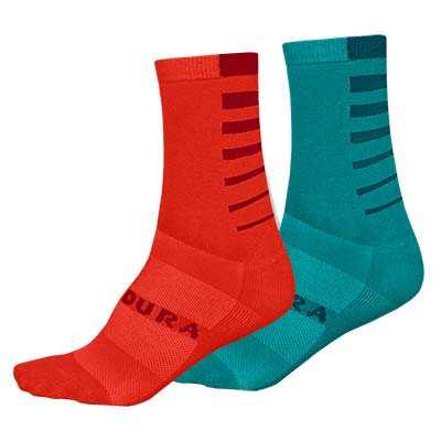 Women's Coolmax® Stripe Socks (Twin Pack)