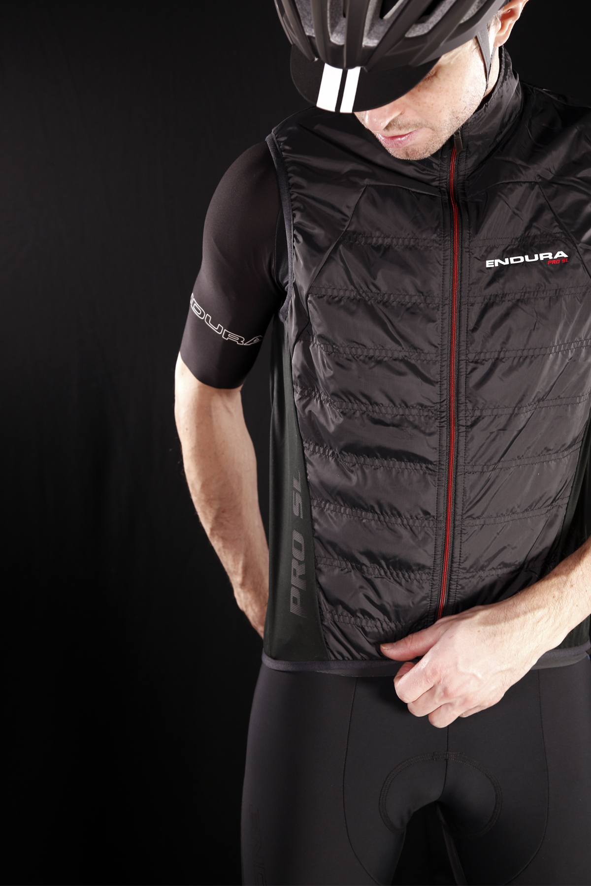 Stretch windproof side and hem panels