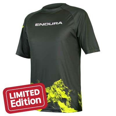 SingleTrack Print T Mountains Khaki