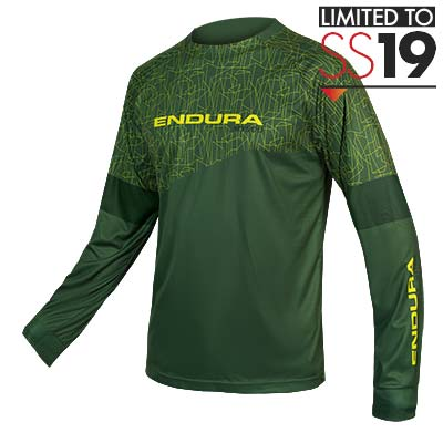 MT500 L/S Print T - LTD Forest Green