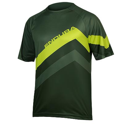 SingleTrack Core Print T  Forest Green