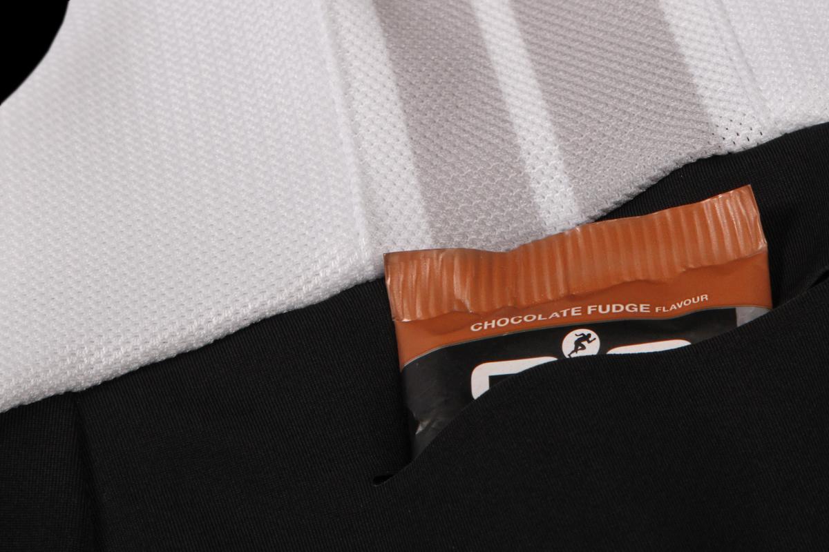 Laser cut rear pocket