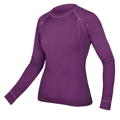 Women's BaaBaa Merino L/S Baselayer Purple