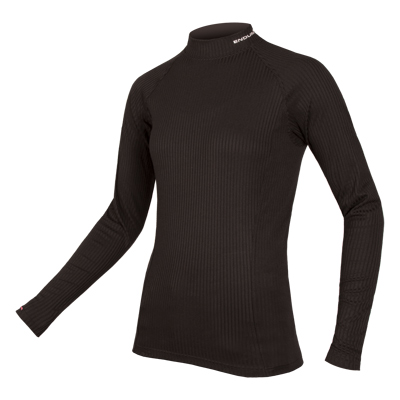 Wms Transrib L/S Baselayer Black