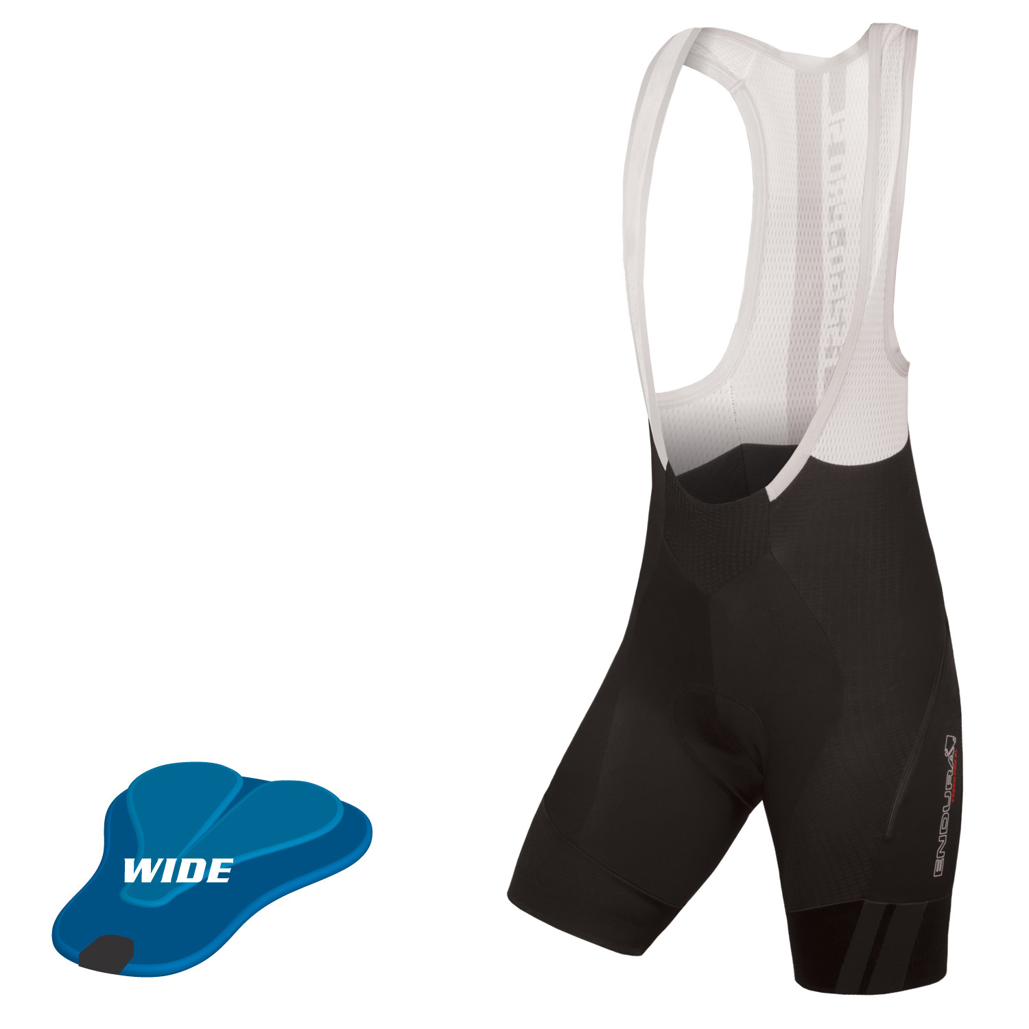 Wms Pro SL Bibshort DS (wide-pad) Black