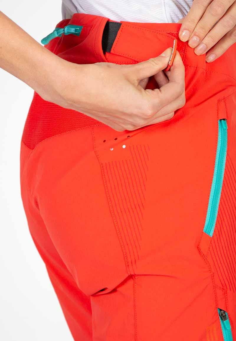 Wicking waistband with Velcro® adjusters