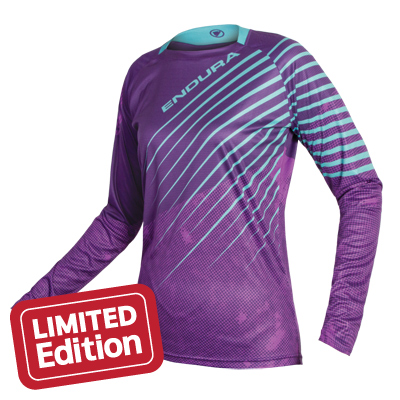 Wms MT500 Print L/S T Purple
