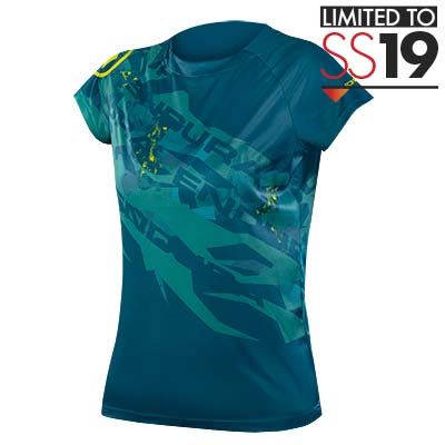 Wms SingleTrack Print T - LTD Kingfisher