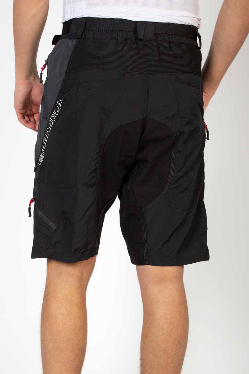 Rear elasticated waistband and adjustable belt