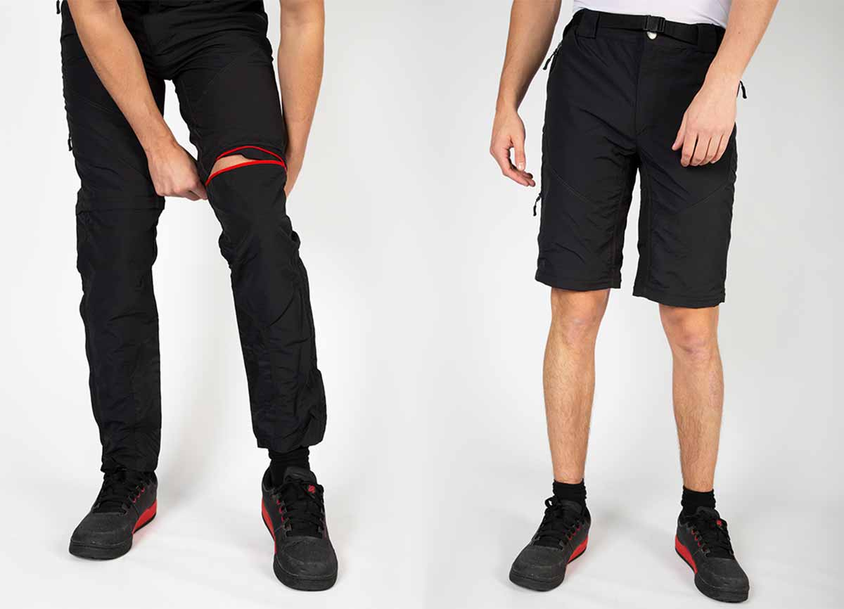 Zip off lower leg converts trousers to shorts