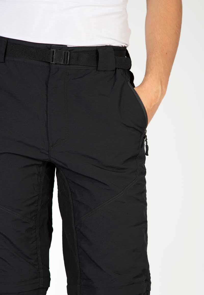 Zipped hand pockets, cargo pockets and large rear map pockets