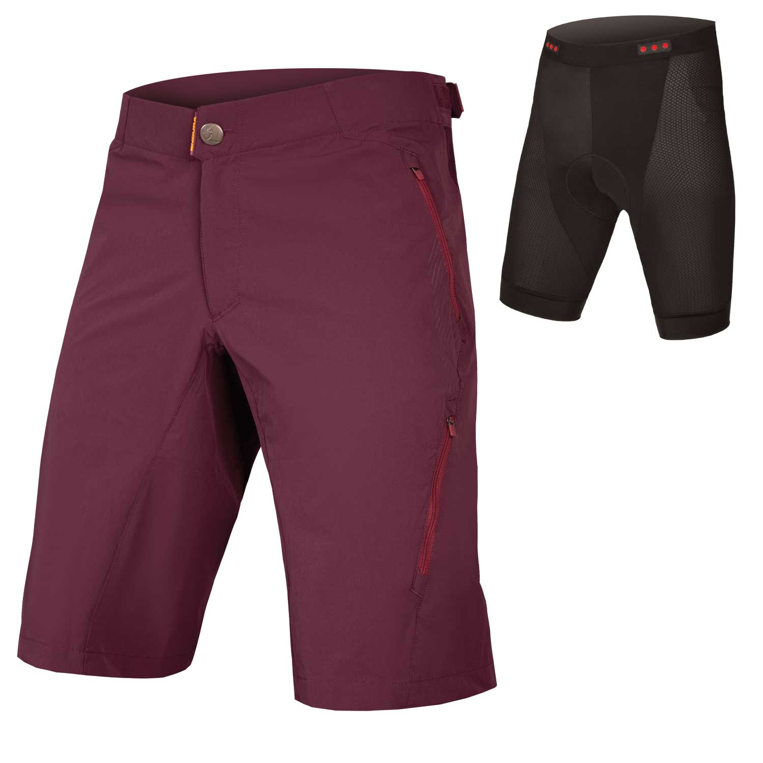 SingleTrack Lite Short II with Liner Mulberry