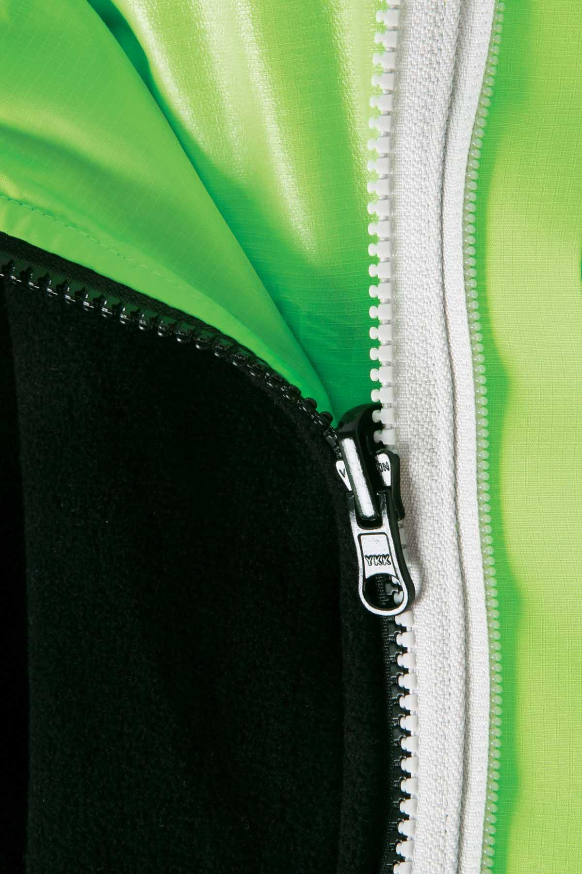 Zip-in, reversible, windproof fleece internal jacket