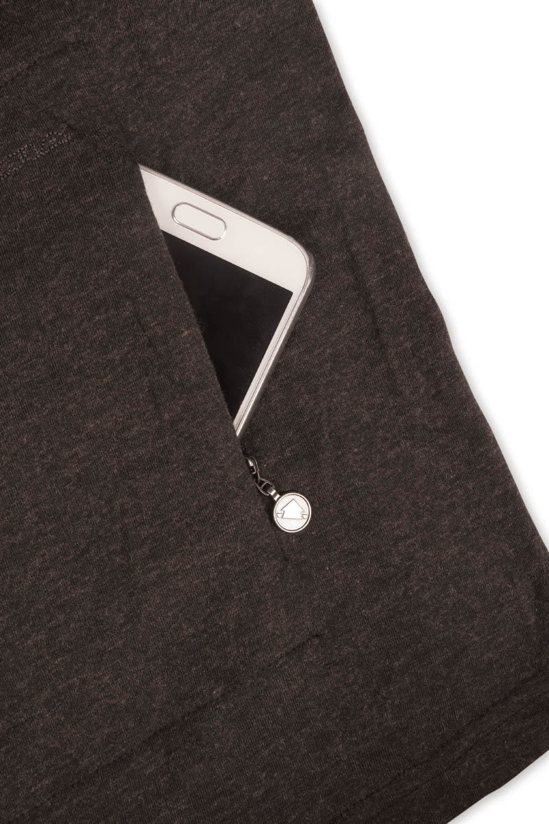 Concealed rear zipped pocket